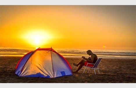 tips and tricks for beach camping