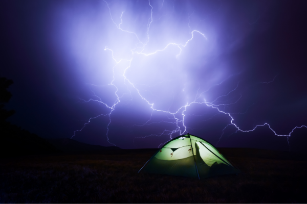 do tents attract lightning